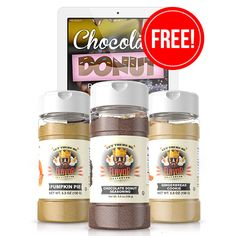 Seasoning Shop Page for Combo Sets, Limited Edition, Classic & Recipes Donut Flavors, Donut Recipes, Coffee Recipes, Chocolate Donuts, Chocolate Recipes, Ketogenic Recipes, Low Carb Recipes, Cheat Meal, Coffee Drinks