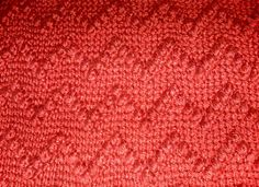 This is the April square. It uses Tunisian Simple Stitch and Tunisian Puff Stitch worked in a repeating chevron pattern.