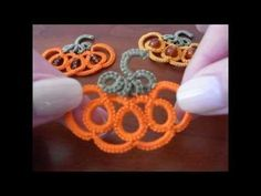 8' TUTORIAL ORECCHINI CIONDOLO ZUCCA DI HALLOWEEN CHIACCHIERINO AD AGO EARRINGS NEEDLE TATTING - YouTube