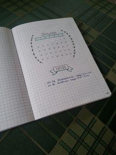 Monthly log idea