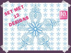10's Embroidery Webshop Snowflakes, Embroidery Designs, Origami, Home Decor, Free, Decoration Home, Room Decor, Bruges Lace, Origami Paper