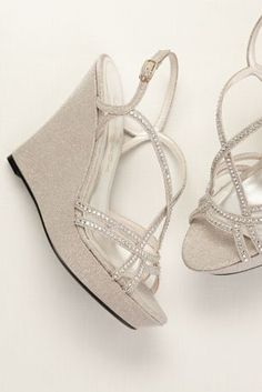 Spice Up Your Look With These Dazzling High Heel Wedges Caparros Strappy Wedge Sandals Crystal Embellisment Height Fully Lined