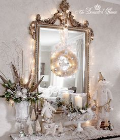Vintage Silver Christmas Tree Decorating Ideas | The Decorated House: ~ The Decorated House ~ Christmas 2012