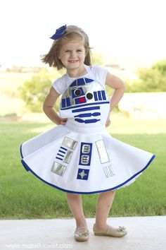 Love it! How to make a Star Wars R2-D2 Costume FOR GIRLS, via Make It and Love It
