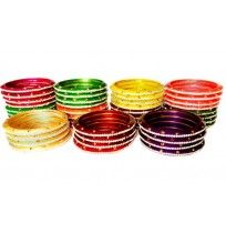 Mixed Double Multicolor Lac Bangles