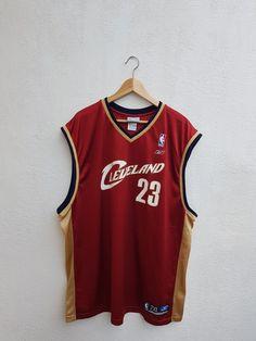 b843d907 Mint Vintage 90s Cleveland Cavs Caviler Lebron James 23 NBA Basketball Tank  Tops Reebok Jersey Size 2XL