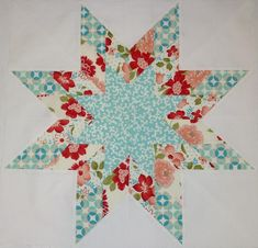 Lone Star quilt.  This was made using the Craftsy, Magic Jelly Roll Quilts class