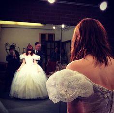 Carly Rae Jepsen tries on Cinderella's dress