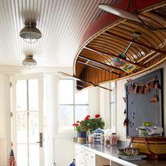 Canoe as Ceiling Decor Inspired