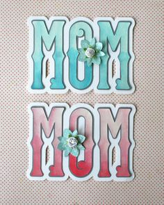 Watercolor a Mother's Day Card with Heidi Swapp Color Shine. Free SVG download of this card.