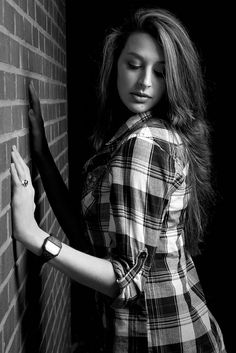 Abby Taylor, Brick wall creative portrait series by DJF-solo, via Flickr I forgot how much I love using walls.