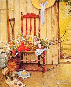 Spring Flowers- Norman Rockwell