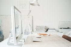 #Mac #Desk #Banzoner #White #Wood