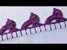 Crochet Edging Patterns, Crochet Borders, Basic Crochet Stitches, Crochet Baby, Free Crochet, Crochet Bikini, Knit Crochet, Beaded Cross Stitch, Chain Stitch