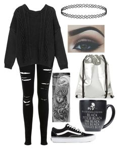 """""""🌑🌙✨"""" by xxghostlygracexx ❤ liked on Polyvore featuring Miss Selfridge, Monki and Vans"""