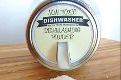 This all natural homemade dishwasher detergent is made from simple, non-toxic ingredients that will keep your dishes clean.