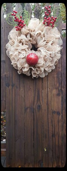 Christmas Wreath Reindeer Wreath Deco Mesh by SouthernThrills