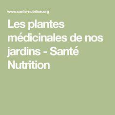 Les plantes médicinales de nos jardins - Santé Nutrition