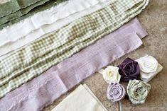 DIY Fabric Flower Garland - A Wonderful Thought Cloth Flowers, Felt Flowers, Diy Flowers, Fabric Flowers, Flower Pots, Paper Flowers, Paper Flower Garlands, Floral Garland, Diy Garland