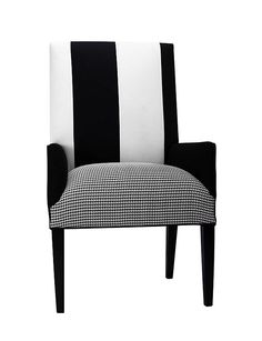 One Kings Lane - Pull Up a Chair - Nina Upholstered Chair, White/Black