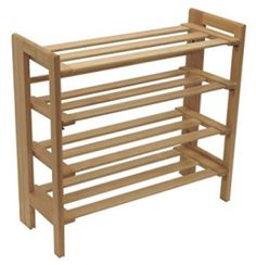 Winsome Wood Foldable 4-Tier Shoe Rack