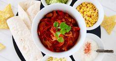 Chili sin carne – vegetariska fajitas