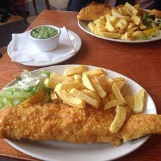 The best fish & chips in the world, Bardsley's at Baker St., Brighton,  England (1 hour outside of London)