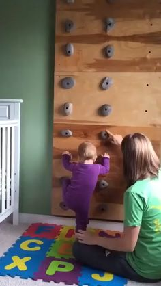 Rock Climbing Holds Features: These climbing rocks are designed for childrens playsets and should not be used for rock climbing walls or any environment over 6 feet tall. These rock climbing holds ar The Babys, Funny Babies, Cute Babies, Baby Kids, Fun Baby, Mom Funny, Infant Activities, Activities For Kids, Indoor Activities