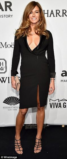Sticking to one color: Kelly Bensimon rocked a LBD and Michelle Rodriguez was wonderful in white Kelly Bensimon, Thigh Highs, Kendall Jenner, Fashion Models, Runway, Celebs, Style Inspiration, Gowns, My Style