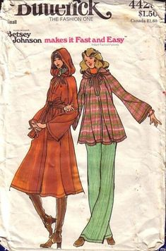 butterick young designers - Swing Jacket from Betsy, pattern is a somewhat crumpled, but her style is still apparent.