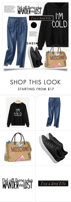 """""""Untitled #1886"""" by kriz-nambikatt on Polyvore featuring Moschino, 3R Studios and Wall Pops!"""