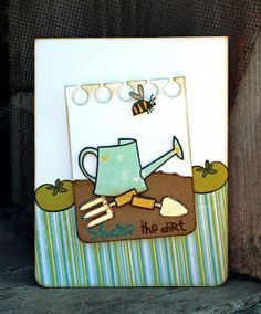 card by SPARKS DT Larissa Heskett PS stamp set: Green Thumb; PS dies: Notebook Basics