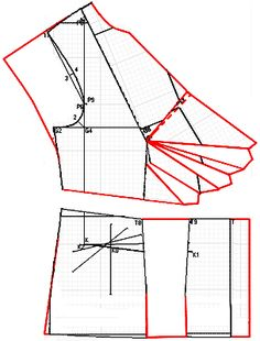 """Examples of models of dresses designed based on calculated in the """"Cutter"""""""