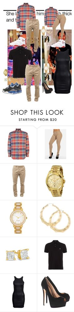 """""""Real relationship goals are when you can stay with each other through thick and thin literally"""" by justicewilson10 ❤ liked on Polyvore featuring Polo Ralph Lauren, Nudie Jeans Co., Michael Kors, Kate Spade, Zales, Retrò, Ralph Lauren and Giuseppe Zanotti"""