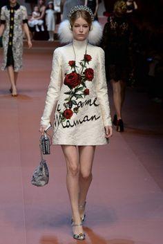 MFW Runway Report: Dolce & Gabbana Fall 2015 via OliviaPalermo.com