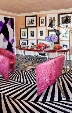 Kelly Wearstler home office. Home Office Design, Office Decor, House Design, Office Ideas, Floor Design, Décor Boho, Interior Decorating, Interior Design, Office Interiors