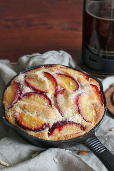 katie's kitchen journal: Roasted Plum and Almond Skillet Cake