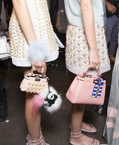 Backstage at Fendi Spring 2015. Photo by Kevin Tachman.