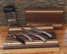 BisonBlocks.com is now offering it's latest design in an all-in-one chopping block. The 18 x 12 solid wood chopping block features a #choppingblock top that is removed to reveal a #servingtray and #utensil #storage area beneath.