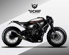 Yamaha concept by Richie Motorcycle Designs Scrambler Moto, Scrambler Custom, Custom Motorcycles, Motorcycle Design, Bike Design, Motorcycle Helmets, Vespa, Moped Scooter, Cafe Racer Honda