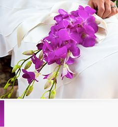 Bouquet with Dendrobium orchids. (Destination Wedding Themes in the Caribbean at Sandals Resorts)