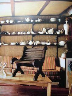 Photo by Leslie Williams. Prototype of Eva Zeisel Lounge Chair. Eva's Studio.