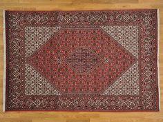 6.5' x 10' Persian Bidjar 100% Wool Oriental Rug Hand Knotted 300 kpsi -