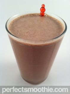 Macadamia Cocoa Smoothie - PerfectSmoothie.com - This is a truly rich dessert smoothie recipe so save it for a treat or party. The extra calories come from the macadamia nuts, ice cream, and cocoa powder. The flavor is very mild and can be enhanced by adding coconut essence. To reduce the calories in the recipe try using fat free or low fat frozen yogurt in place of the ice cream.