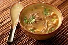 Asian Style Chicken Noddle Soup I made this with brown rice noodles and it was excellent!!