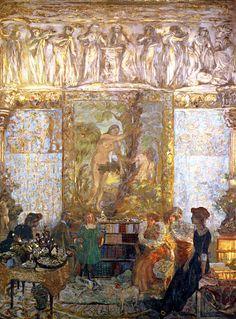 The Library / Edouard Vuillard - 1910-1911 ✏✏✏✏✏✏✏✏✏✏✏✏✏✏✏✏  ARTS ET PEINTURES - ARTS AND PAINTINGS  ☞ https://fr.pinterest.com/JeanfbJf/pin-peintres-painters-index/ ══════════════════════  BIJOUX  ☞ https://www.facebook.com/media/set/?set=a.1351591571533839&type=1&l=bb0129771f ✏✏✏✏✏✏✏✏✏✏✏✏✏✏✏✏