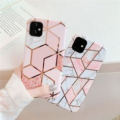 LACK Gradient Silver Electroplated marble Case For iPhone X XS Max XR 6 7 8 Plus 11 Max Colorful Shiny Soft Phone Case - For iphone 8 Style 6 Win a brand newiPhone XIEnter our time-limited give-away and win iPhone XI in any color you want! Diy Iphone Case, Iphone 3, Marble Iphone Case, Marble Case, Coque Iphone, Iphone Phone Cases, Iphone Case Covers, Apple Iphone, Phone Cover