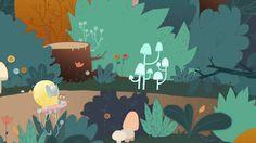Petit escargot vous améne faire une jolie ballade en forêt