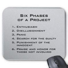 6 Phases of a Project