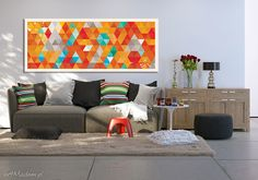 Painting on Canvas + ABSTRACTION + LUdesign was launched from love to art and beauty. Our paintings are work of Agnieszka Nowacka who combines techniques of traditional painting and. Traditional Paintings, New Homes, Product Launch, Wall Decor, Couch, Abstract, Handmade, Painting Canvas, Furniture